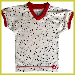 Kik Kid T-shirt spots wit