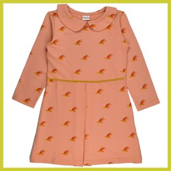 Baba Collar Dress birds