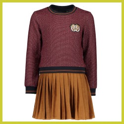 Nono jurk glitter top and suede skirt