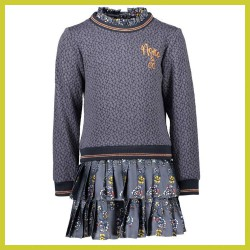 nono-jurk-moon-with-jacquard-top-and-plisse-skirt