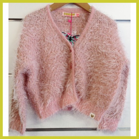 Someone gilet fluffy Soiree Pink