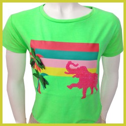 Someone t-shirt Olif Fluo Green