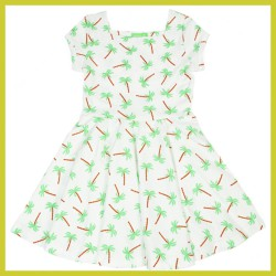 Lily Balou Kiki Dress palm-trees