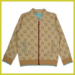 Baba Bomber Jacket Blocks brown