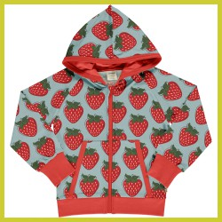 Maxomorra Cardigan Hood Sweat STRAWBERRY