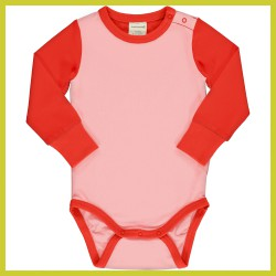 Maxomorra Body LS Block POPPY / BLOSSOM