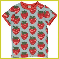 Maxomorra Top SS STRAWBERRY