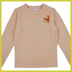 Baba Longsleeve Girl Squirrel roze