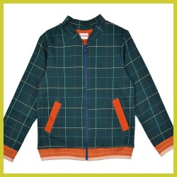 Baba Bomber jacket Checked blue