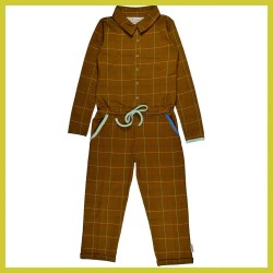 Baba Aster jumpsuit Checked mustard