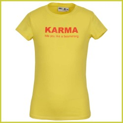 Awesome t-shirt Karma yellow