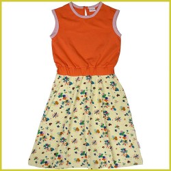 Baba Jurk Smockdress long Flower Field