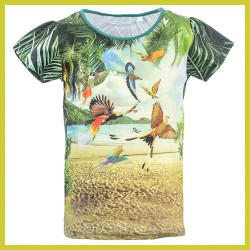 Stones and Bones t-shirt Florene - PARADISE forest