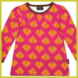 Maxomorra Top Gathered Autumn Leaf