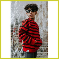 Six Hugs sweater Red Stripes