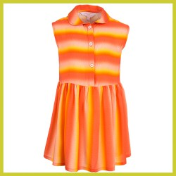 Stones and Bones jurk Heather - STRIPES orange