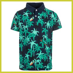 Stones and Bones polo Victory - PALMTREES navy