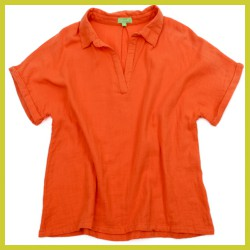 Lily Balou Dames Gloria Blouse Muslin Red Orange