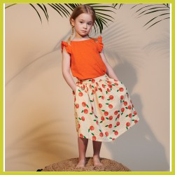 Lily Balou Eline Top Slub Orange