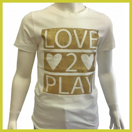 Frenchy t-shirt Love 2 play