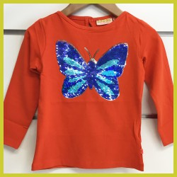 Someone longsleeve Papillon orange
