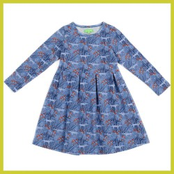 Lily Balou Anna dress wolves-blue